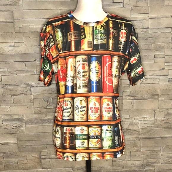 Beer digital print t-shirt
